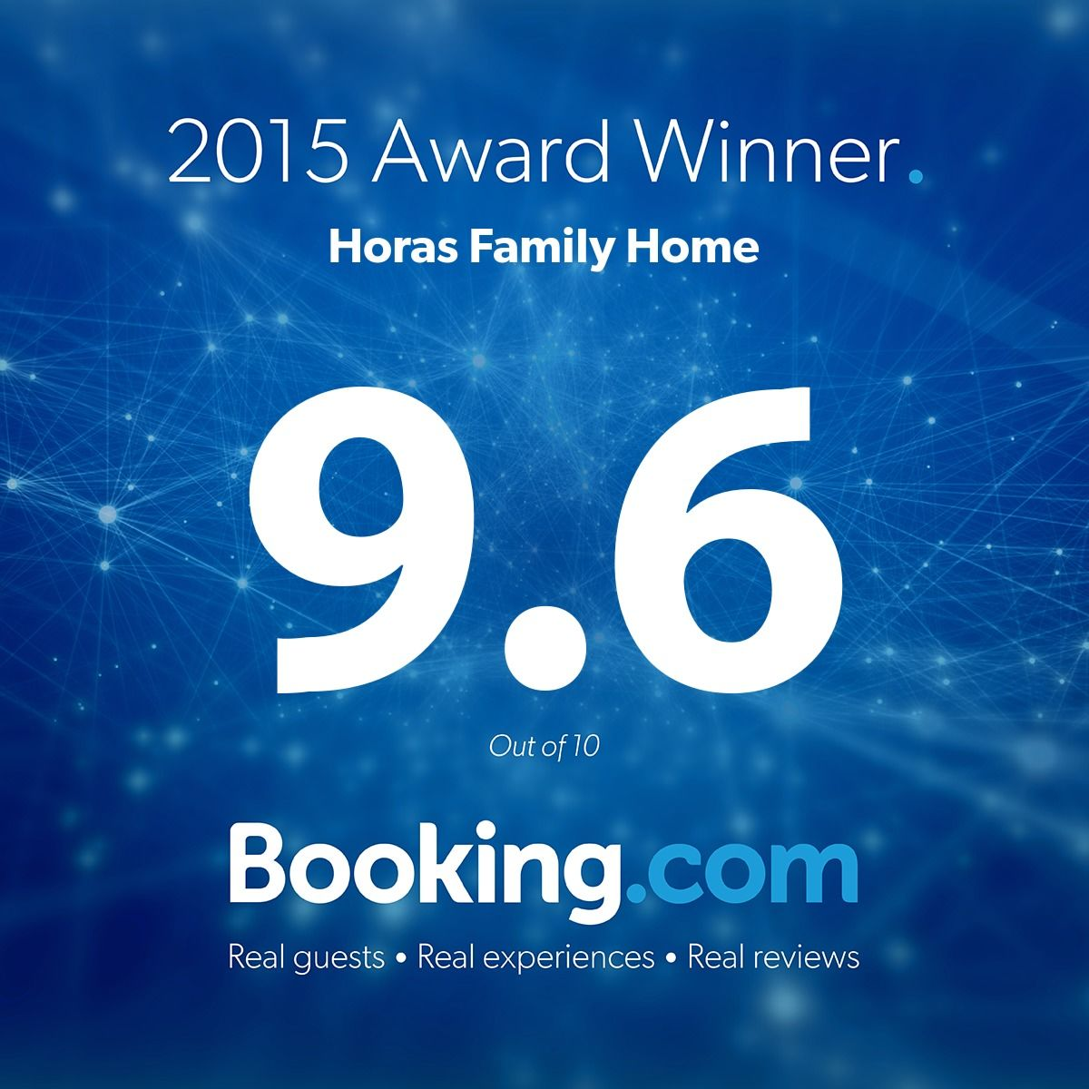 Booking.com 2015 award